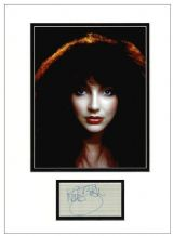 Kate Bush Autograph Signed Display